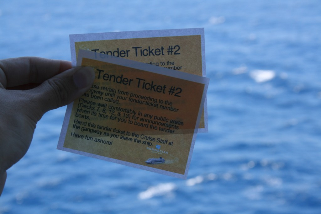 Port Excursion Tender Ticket