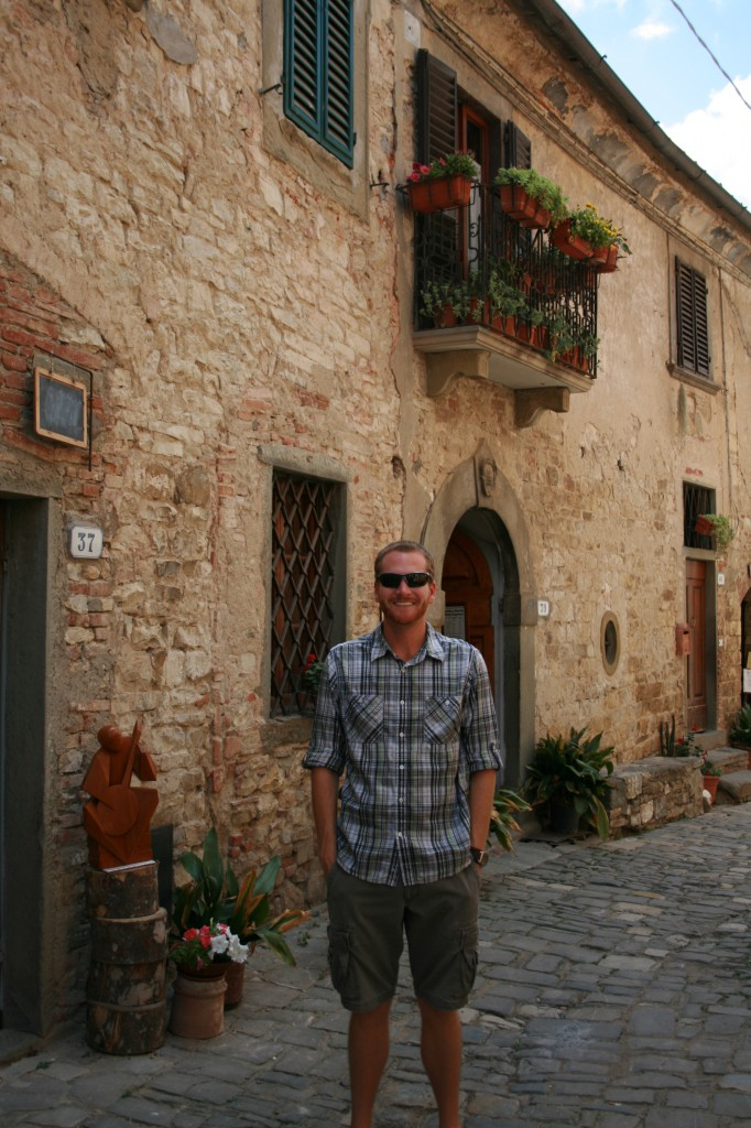 Tourist in Montefioralle Italy