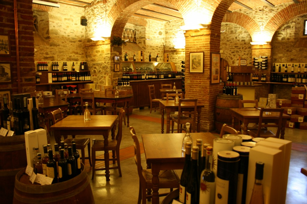 Le Cantine wine cellar Greve