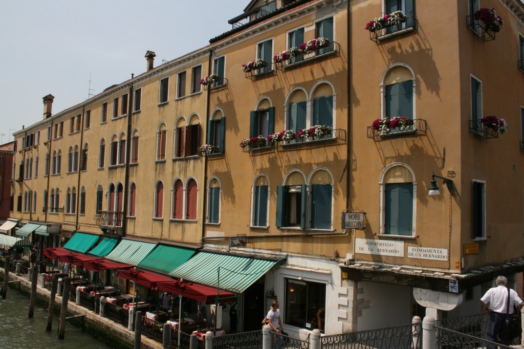 Buildings along the canal in Venice