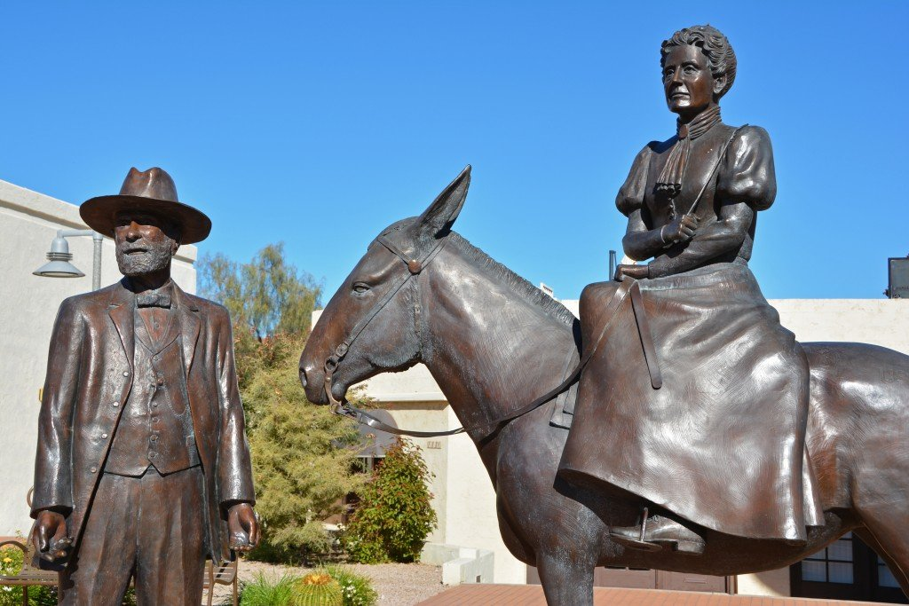 Old town Scottsdale Winfield Scott statue