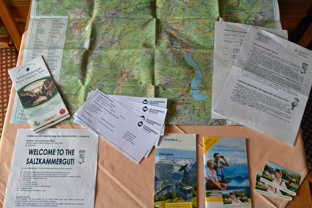 Salzkammergut map and welcome package