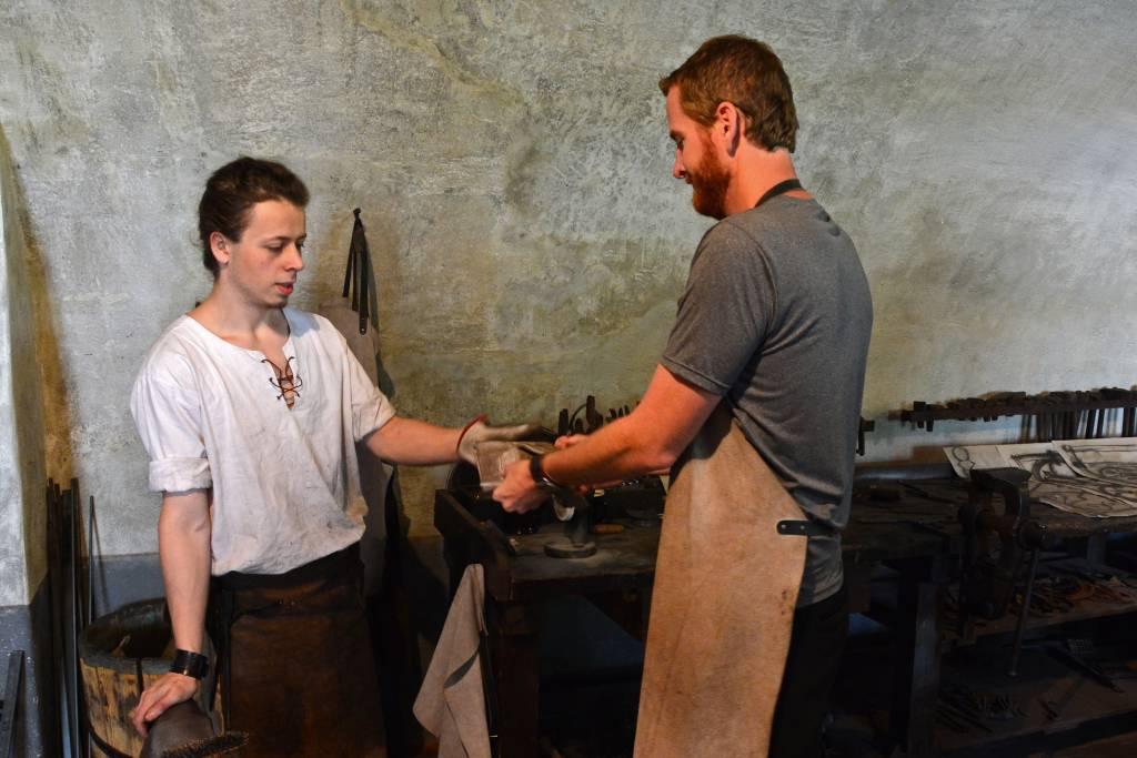 Blacksmith in Cesky Krumlov