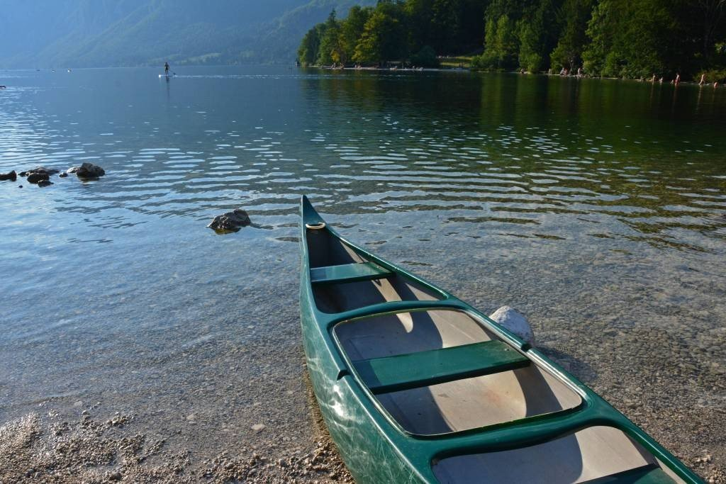 Canoe at Lake Bohinj