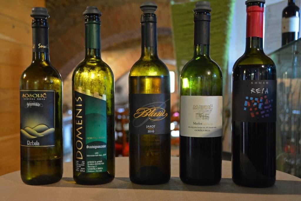 Wine at Dobrovo Castle Wine Cellar