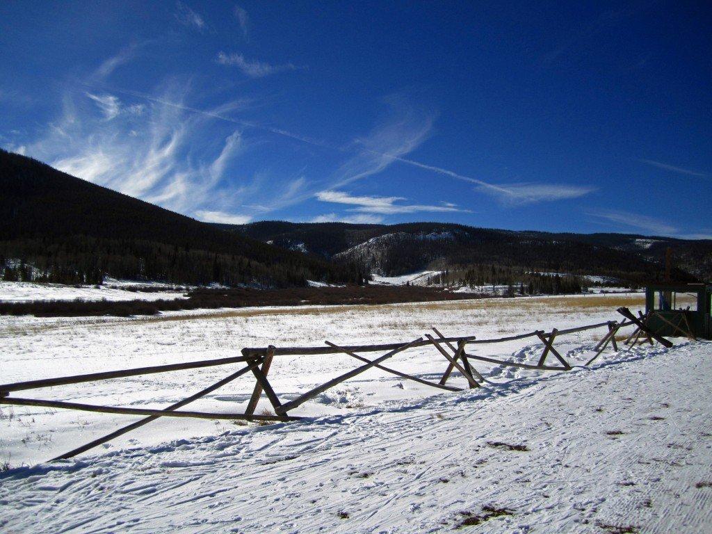 Snow field Colorado