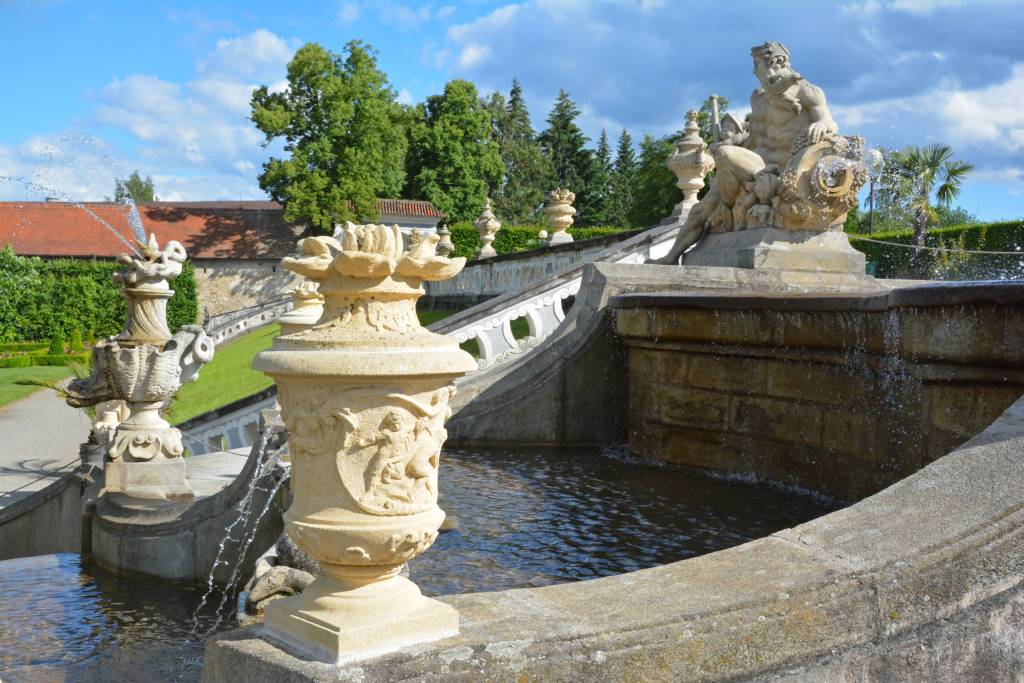 Statue in castle gardens
