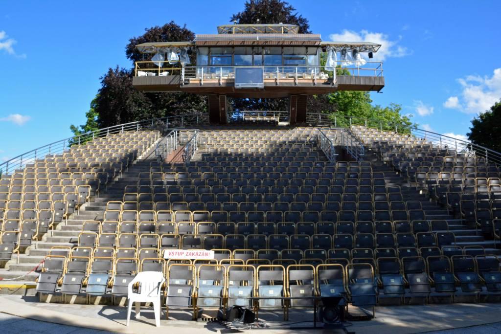 Revolving auditorium Cesky Krumlov castle gardens