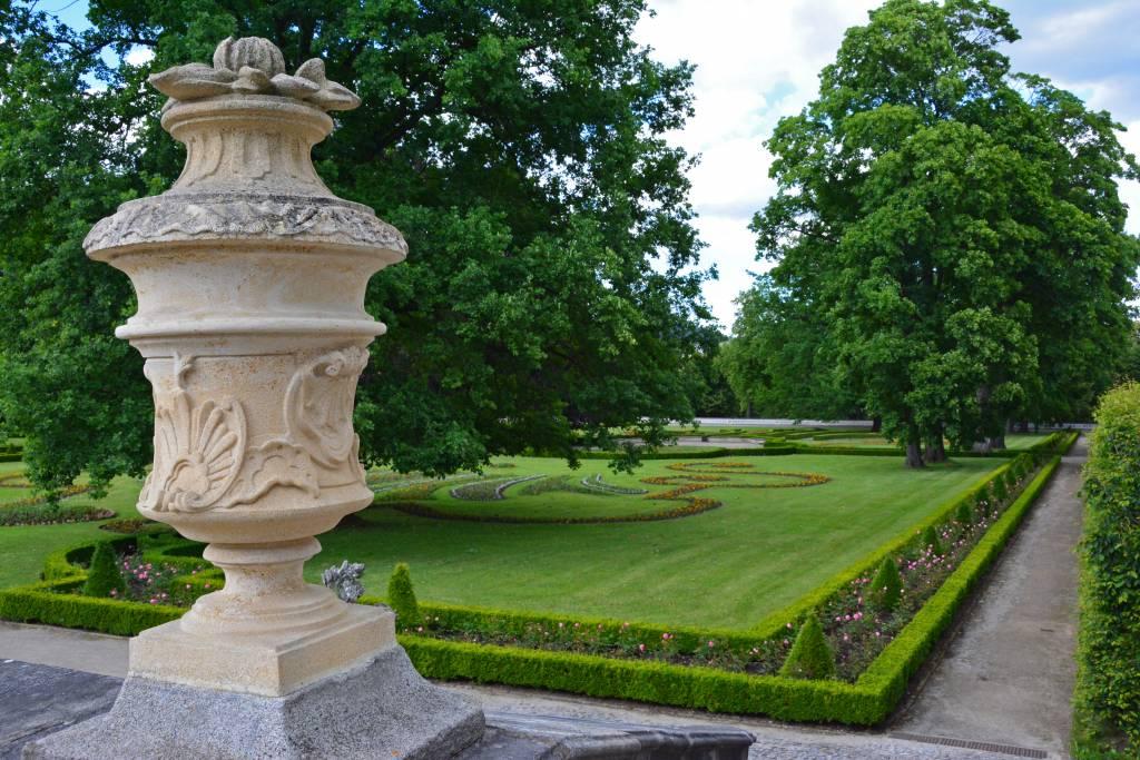 Castle gardens Cesky Krumlov