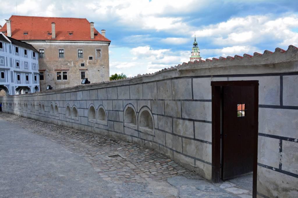 Door in a medieval wall