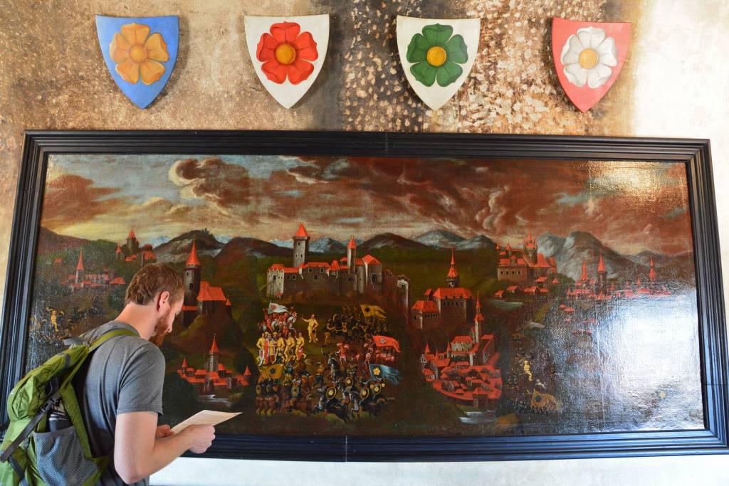 Cesky Krumlov Castle museum painting