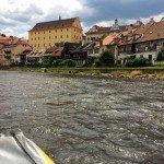 Rafting the Vltava River in Cesky Krumlov