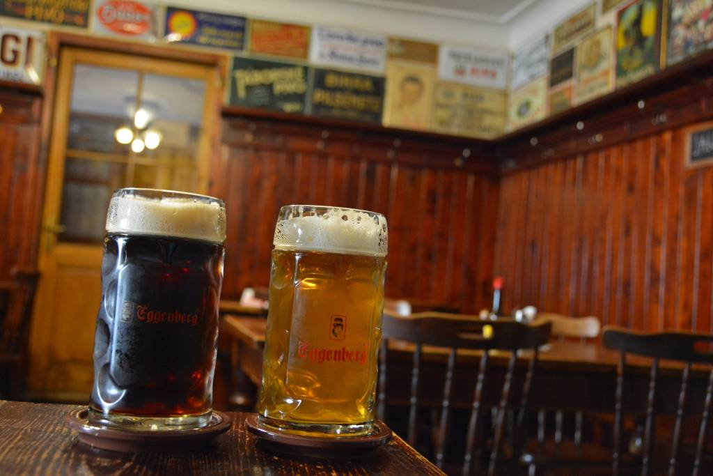 Eggenberg beer light and dark