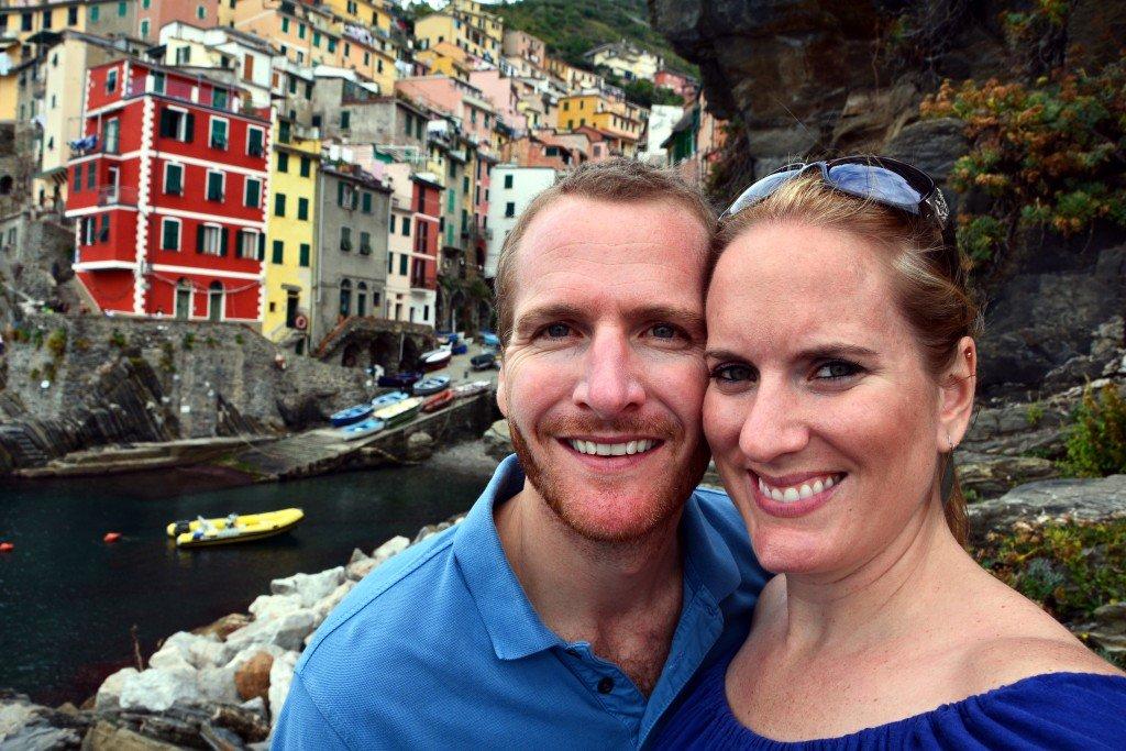 Forget Someday Travel Blog couple in Riomaggiore Cinque Terre