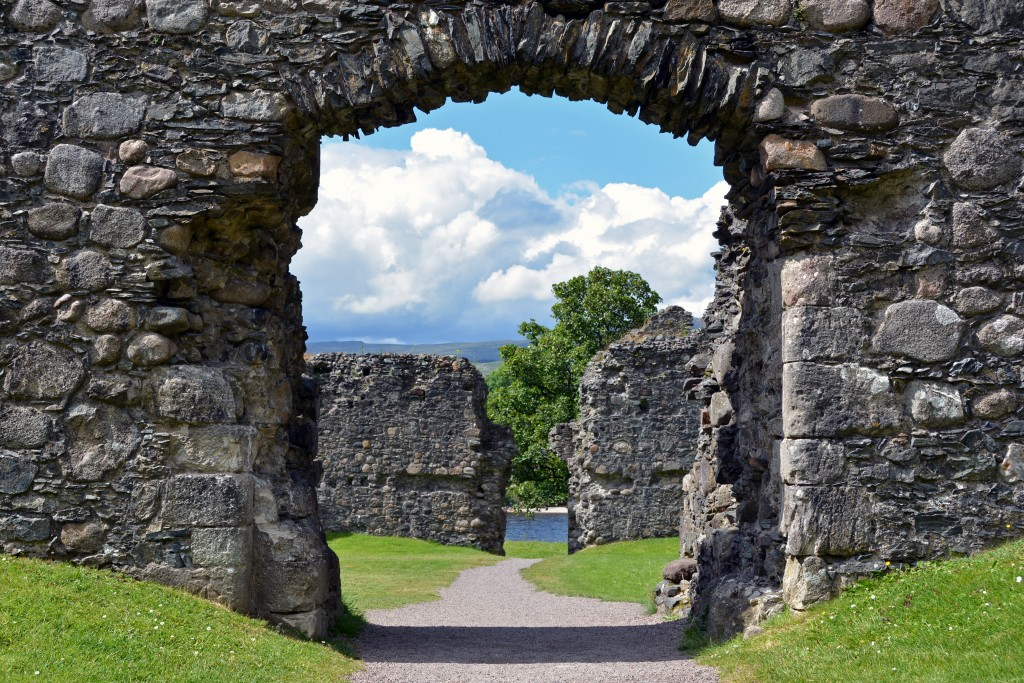 Interlochy Castle in Glencoe Scotland