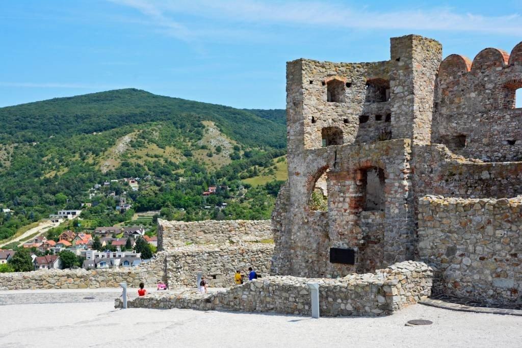 Tourists at Devin Castle Bratislava Slovakia