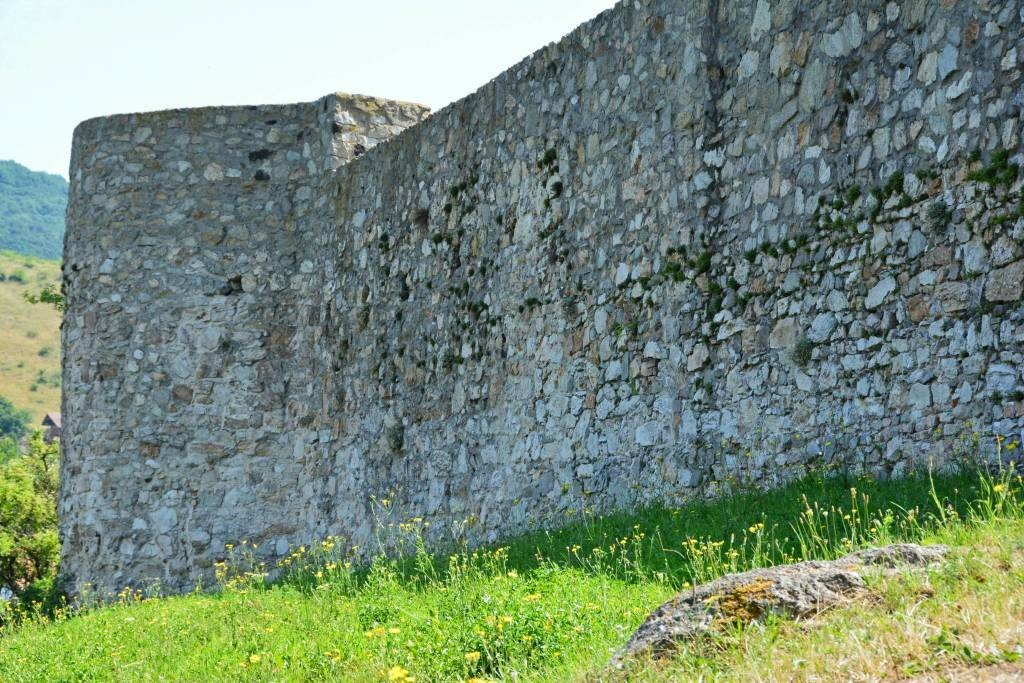 Ancient medieval castle wall Devin Castle