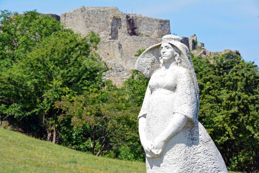 Medieval statue Devin Castle