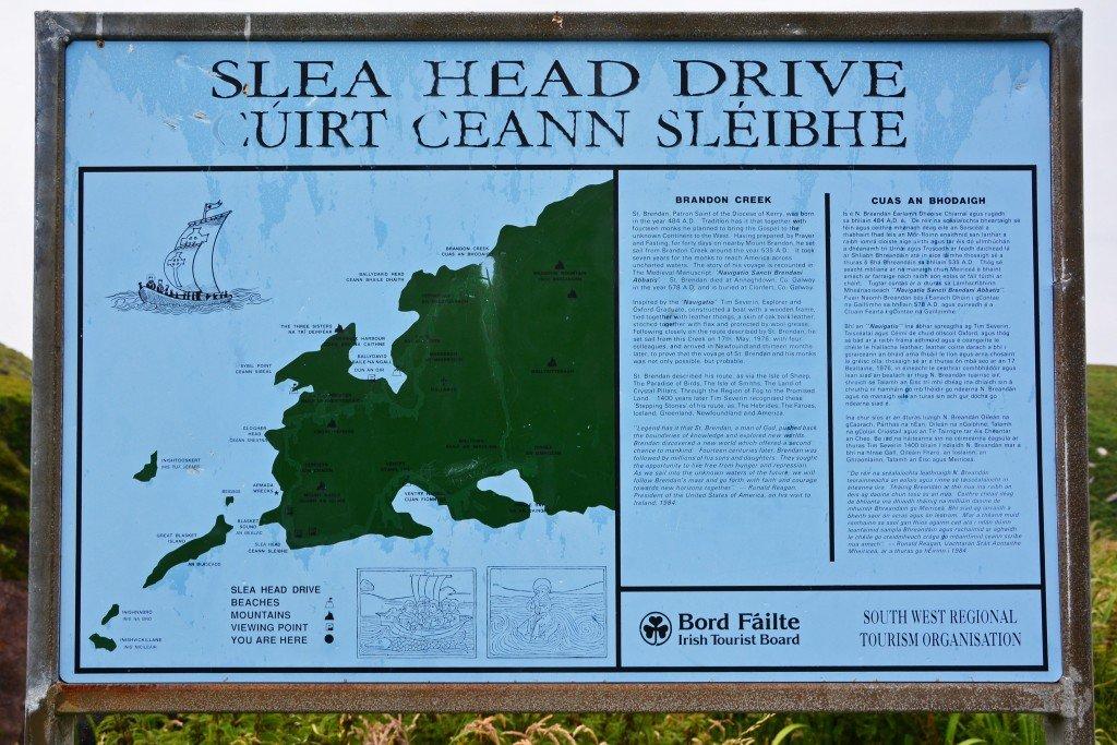 Slea Head Drive sign post Dingle Peninsula