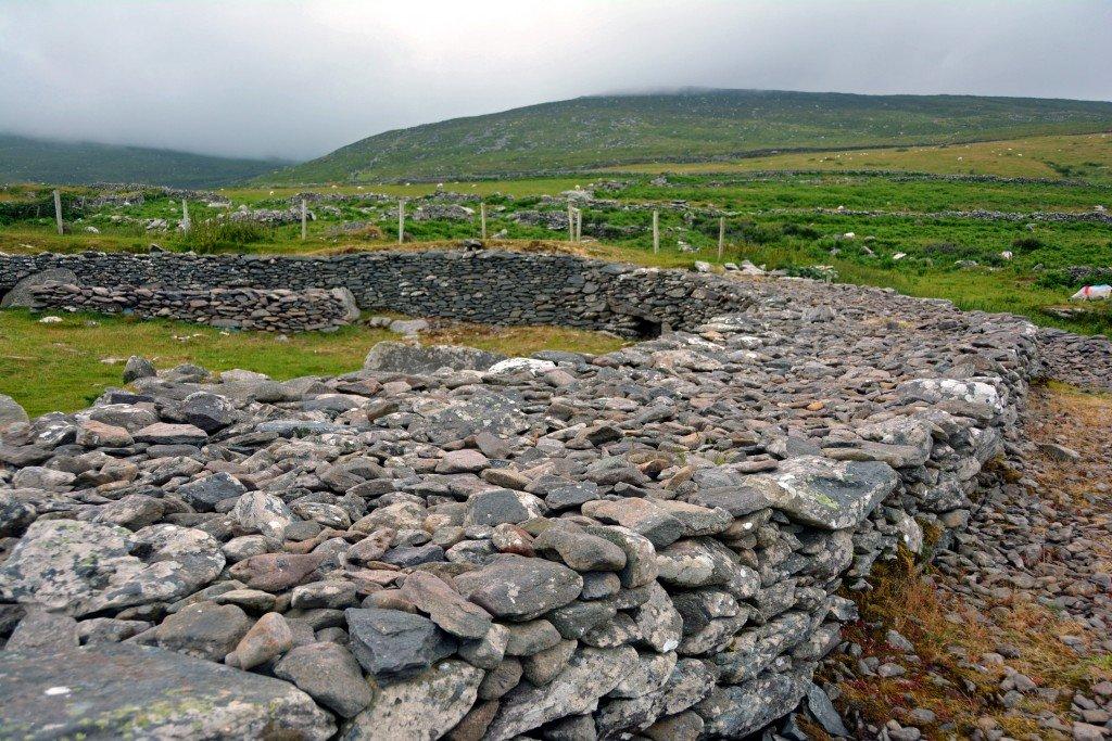 Ancient stone wall Ireland