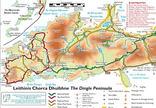 Dingle Peninsula Map