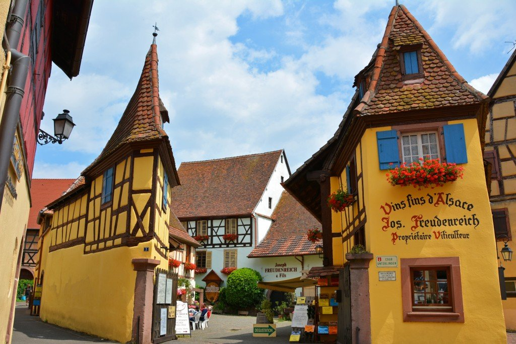 Eguisheim A Colorful French Village In The Alsace Wine