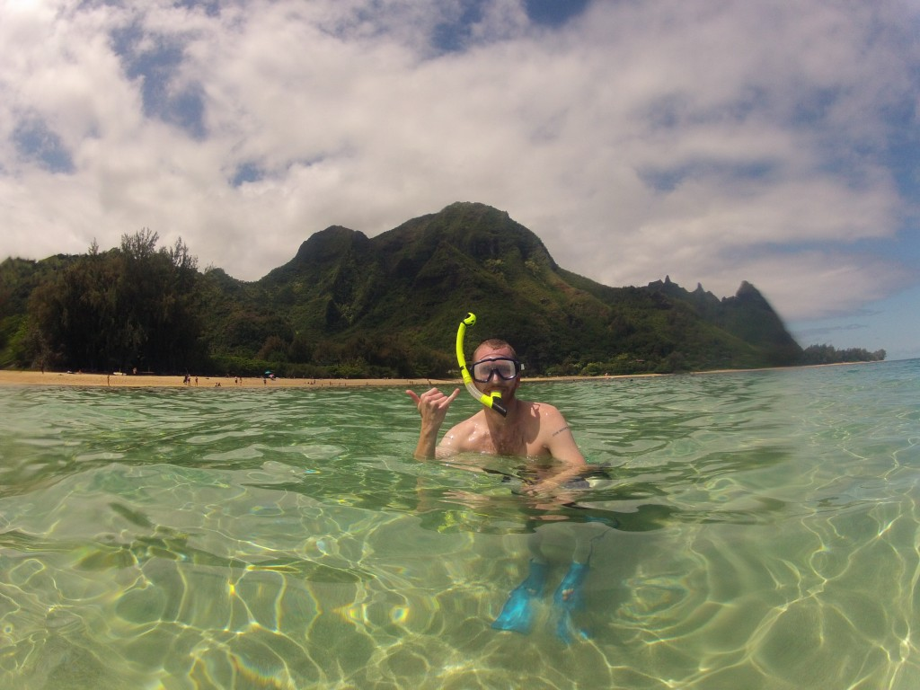 Snorkeling at Tunnels Beach Kauai