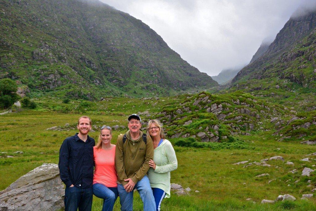 Family vacation Ireland Gap of Dunloe