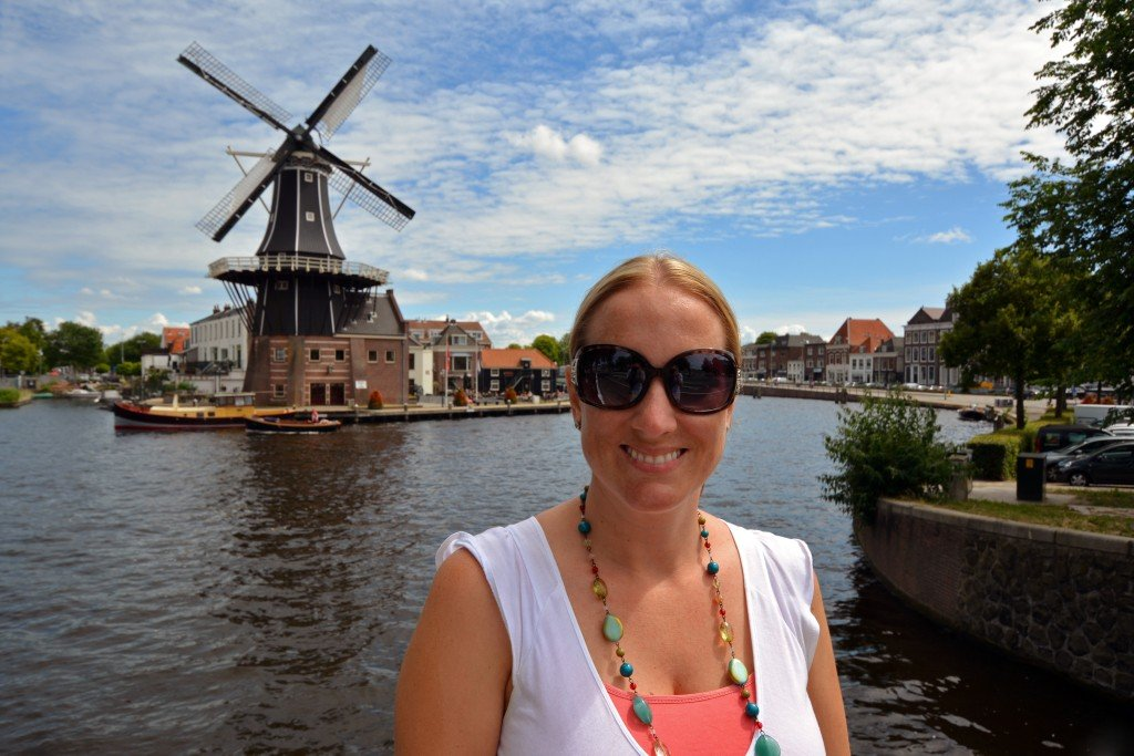 Toccara from forget someday travel blog at a Windmill in Haarlem