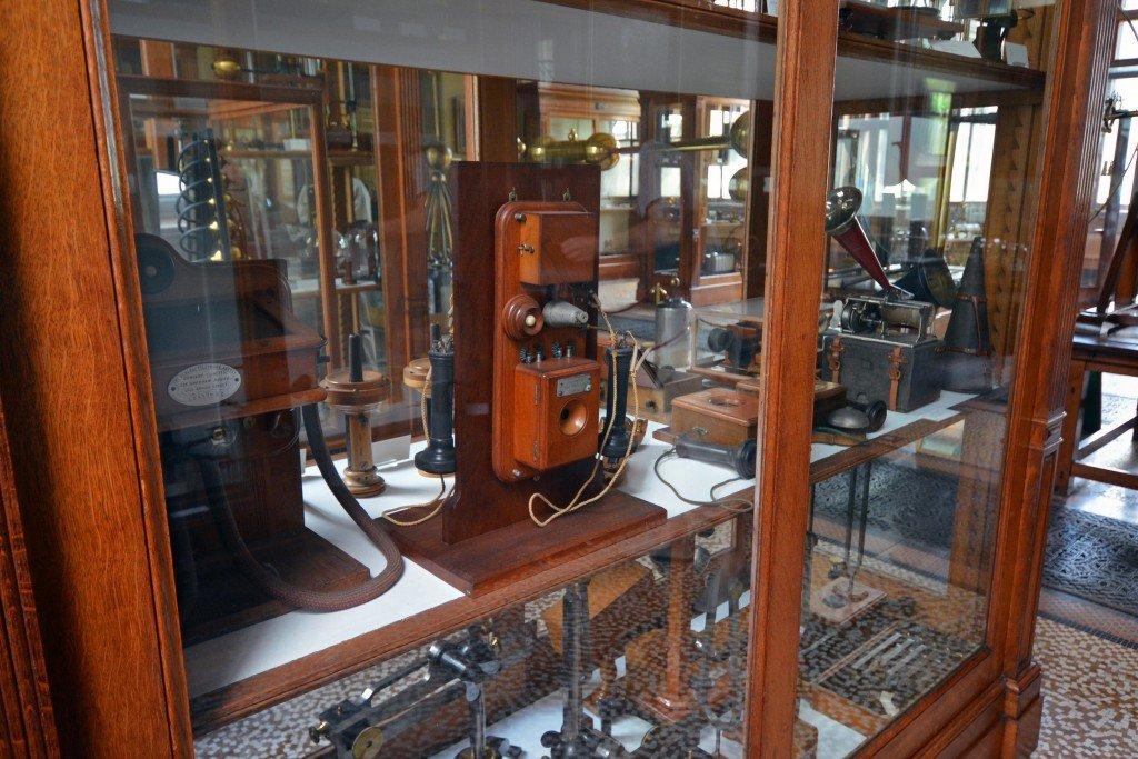 Antique phones Teylers Museum Haarlem Netherlands
