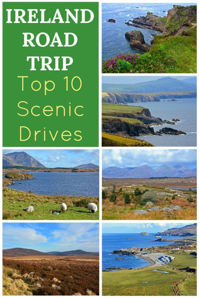 Plan the ultimate Ireland Road Trip with a look at these top 10 best scenic drives in Ireland! Take a journey along the Wild Atlantic Way. Tour the Ring of Kerry, Dingle Peninsula, and more. Explore beautiful coastlines and mountain passes as you discover the beauty of Ireland by car!