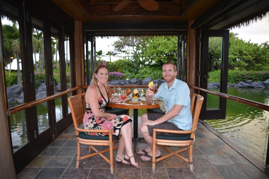 Romantic dining Tidepools Kauai
