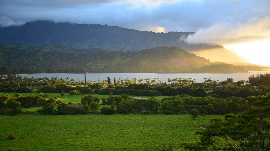 Hanalei Bay Scenic Lookout Sunset
