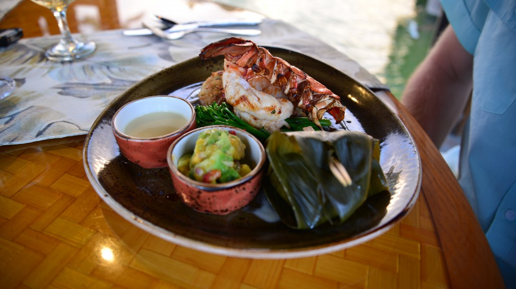 Pacific prawns with kona cold lobster