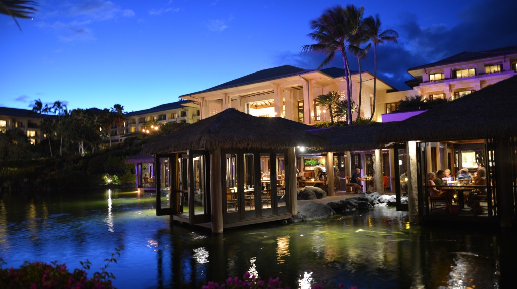 Romantic dining at Tidepools Grand Hyatt Kauai