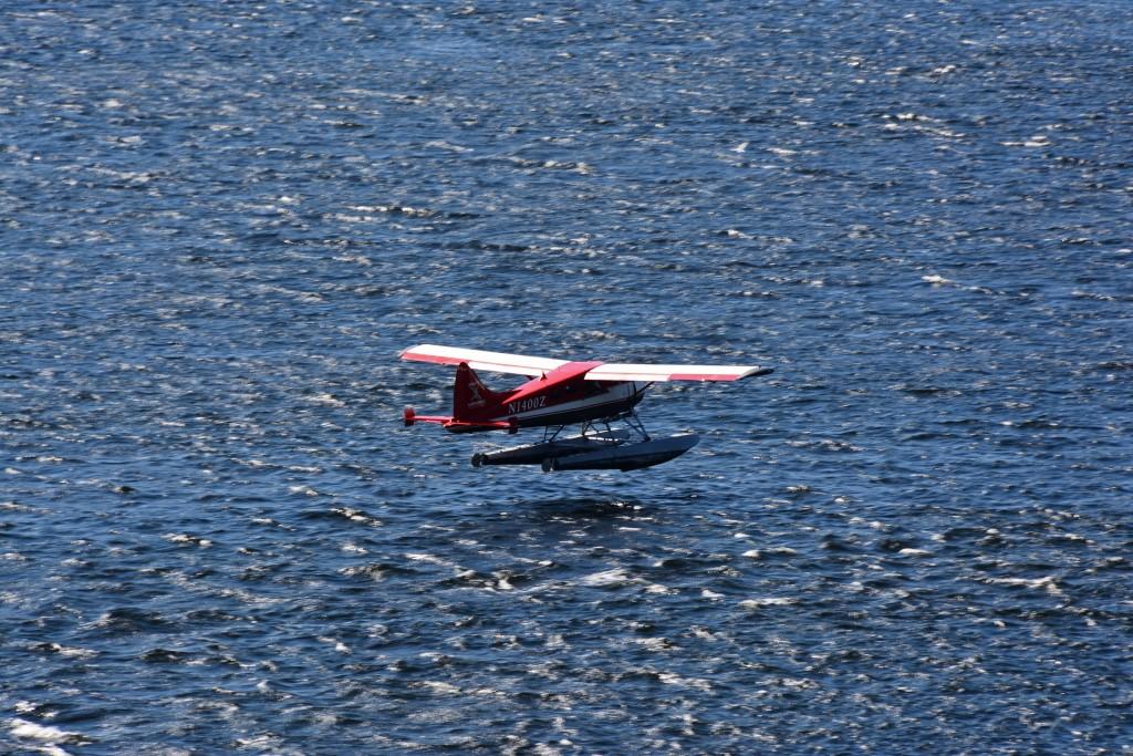 Float plane landing