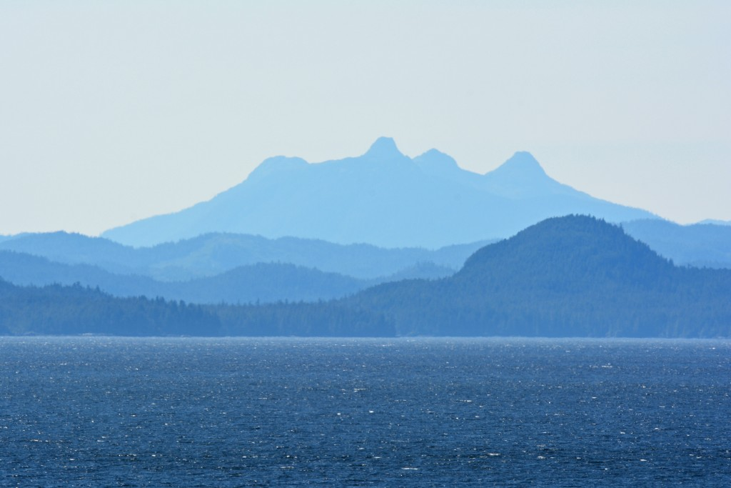 Alaska mountains ocean