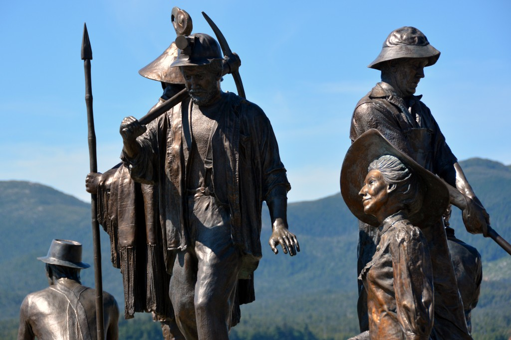 The Rock statue Ketchikan