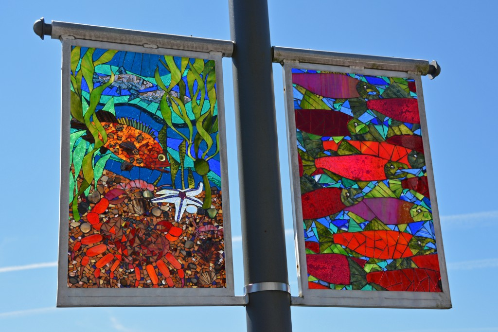 Stained glass street decoration