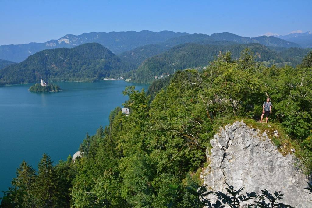 View of Lake Bled from near Bled Castle
