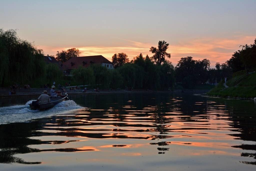 Sunset Boat Tour Ljubljana