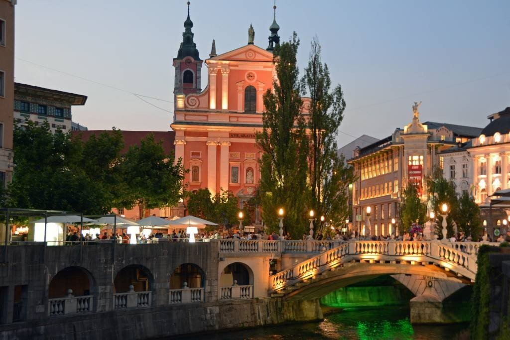 Ljubljana at sunset