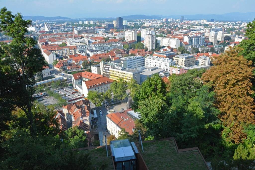 Ljubljana View from Castle Funicular