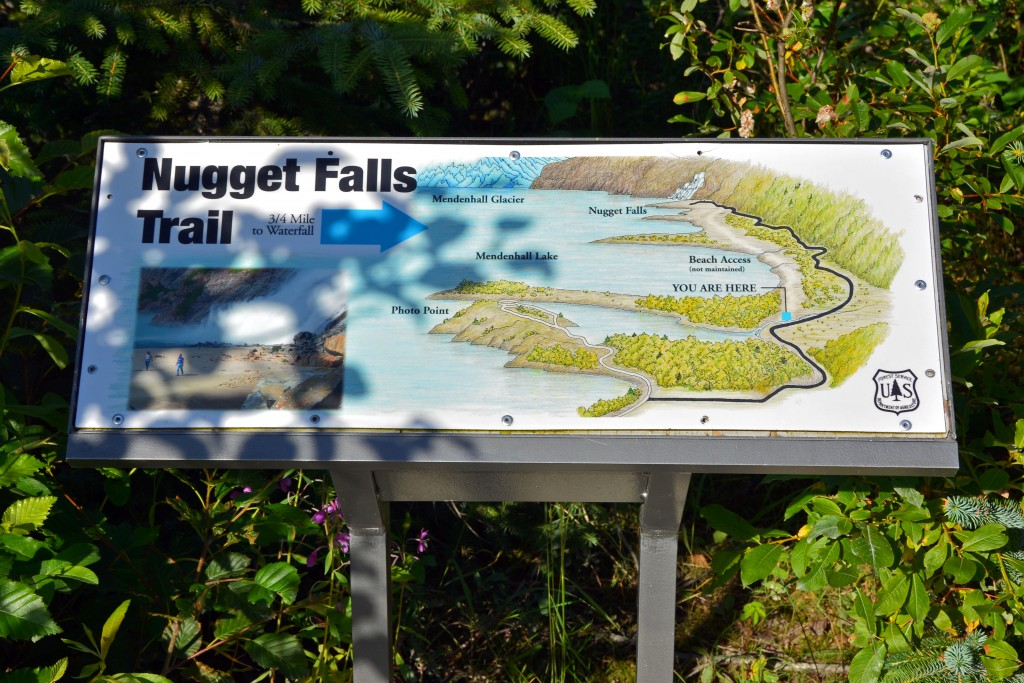 Nugget Falls trail map