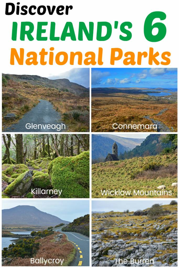The 6 National Parks of Ireland - Wicklow Mountains National Park | The Burren | Connemara National Park | Glenveagh National Park | Killarney National Park | Ballycroy National Park | Ireland's National Parks are definitely worth a visit on your trip to the Emerald Isle. Each one offers something unique!
