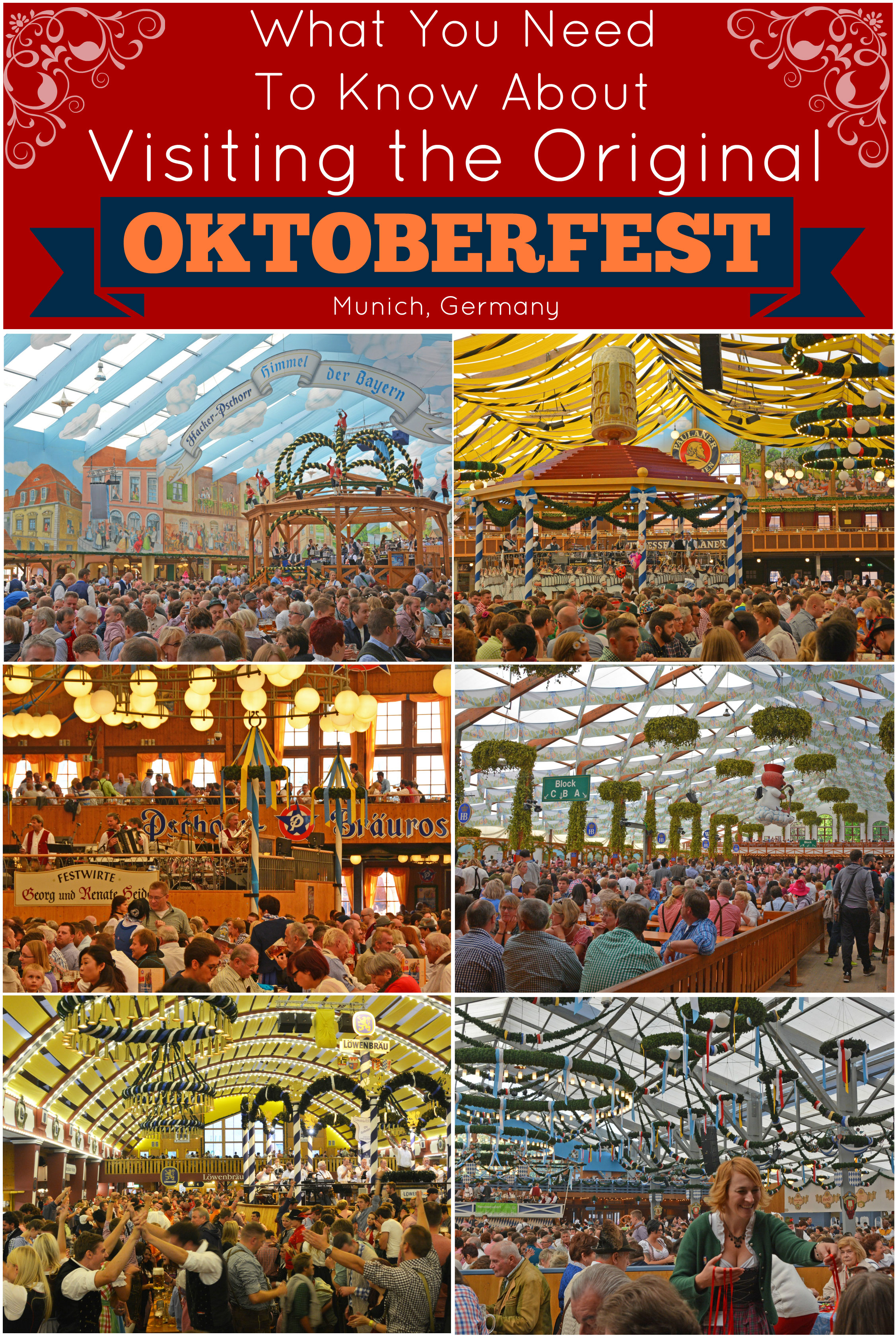 Oktoberfest Tips - Things to Know About Attending Oktoberfest in Munich Germany. This guide includes info on tickets, tents, rides, food, and more! #oktoberfest #munich #germany #beerfestival #beer #bavaria
