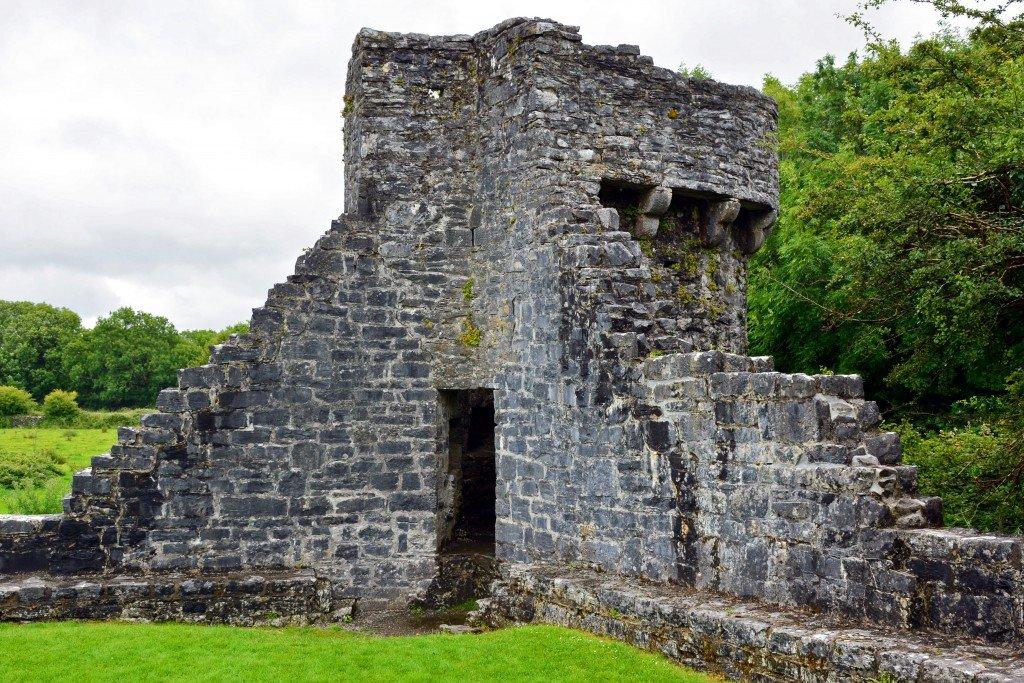 Medieval stone castle steps