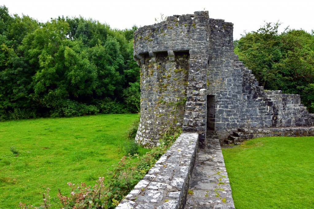 Augnanure medieval castle wall
