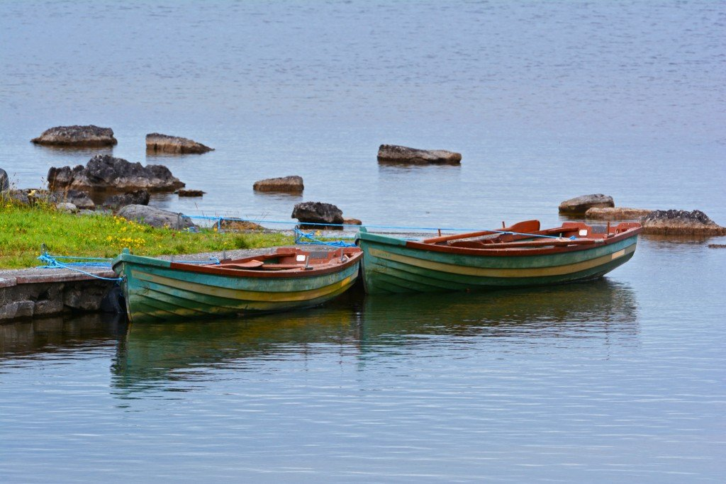 Row boats on the loch
