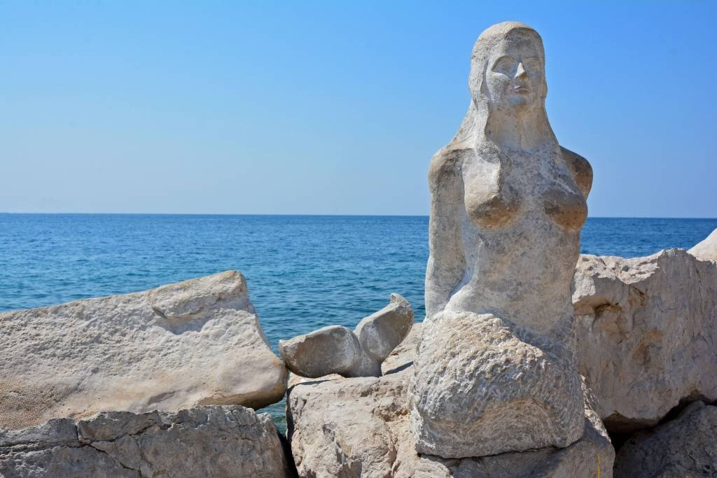 Mermaid in Piran Slovenia